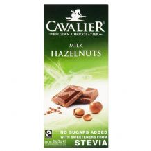 Stevia Milk Chocolate Hazelnut Bar 85g By Cavalier